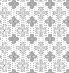 Gray four pedal geometric flowers on continues vector