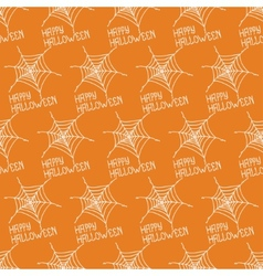 Happy Halloween Seamless pattern with spiders web vector image vector image