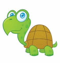 happy turtle vector image vector image