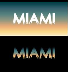 miami city label vector image vector image