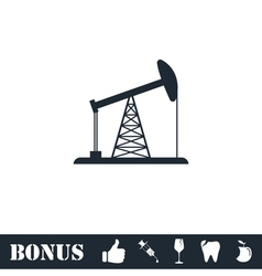 Oil Rig icon flat vector image vector image