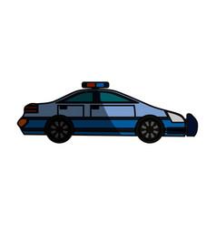 Police car isolated vector