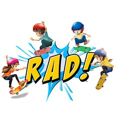 Rad kids vector