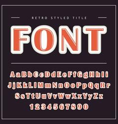 Retro Font vector image vector image