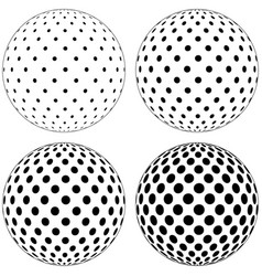 set of 3d globe ball dots circles on the surface vector image vector image