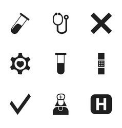 set of 9 editable health icons includes symbols vector image vector image