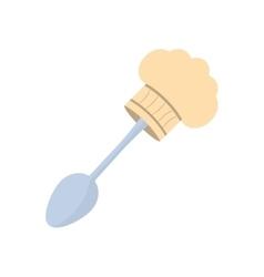 spoon hat chef cook utensil vector image
