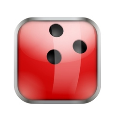Square icon for bowling app or games vector image vector image