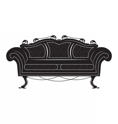 Vintage gothic style sofa furniture vector