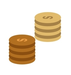 Stacks of coins vector