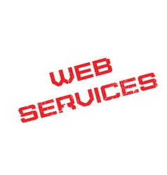 Web services rubber stamp vector