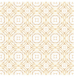 golden abstract geometry seamless pattern vector image