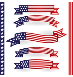American ribbons vector