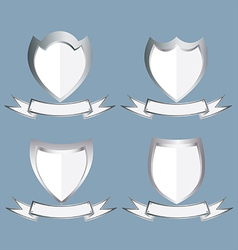 The Metallic Label Frames vector image
