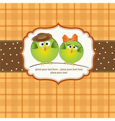 Birds couple in love vector