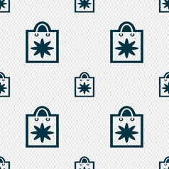 Shopping bag icon sign seamless pattern with vector