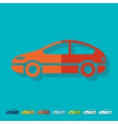 Flat design car vector