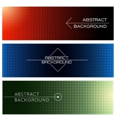 Horizontal banners set vector