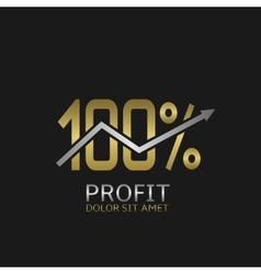 One hundred profit logo vector