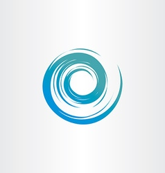 Tornado blue water wave spiral circle background vector