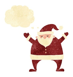 Cartoon santa claus with thought bubble vector