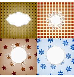 Set of four lacy napkins vector