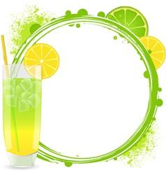 Cocktails Background Frame vector image