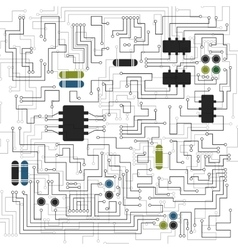 Abstract circuit board texture vector image