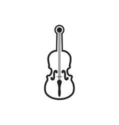 black icon on white background musical vector image