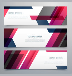 Business banners set in geometric shapes vector