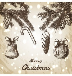 Christmas hand drawn - vector image vector image