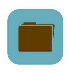 color square with folder icon vector image
