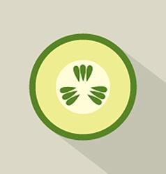 Flat Design Cucumber Icon vector image