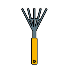 garden rake isolated icon vector image vector image