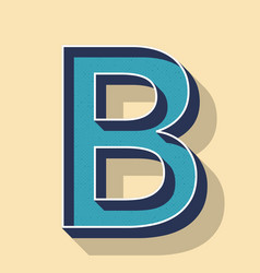 Letter b retro text style fonts concept vector