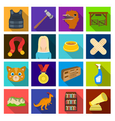 Nature history sport and other web icon in flat vector