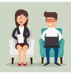 Office teamwork people icon vector