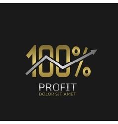 One hundred profit logo vector