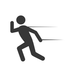 Pictogram running icon sport design vector