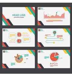 Presentation template vector image