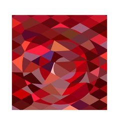 Rising sun abstract low polygon background vector