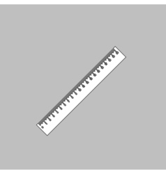 Ruler computer symbol vector image