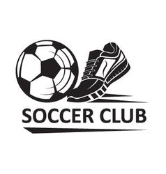 soccer football logo vector image vector image