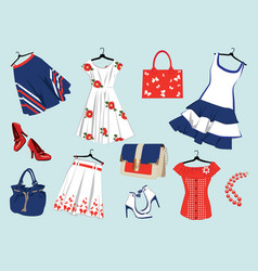summer womens clothes vector image vector image