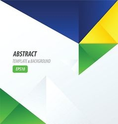 Template triangle yellow blue green vector