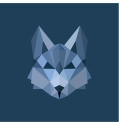 Wolf polygon head blue gray colors design style vector