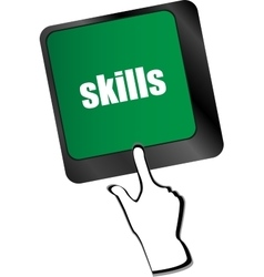 Skills message on enter key of keyboard vector
