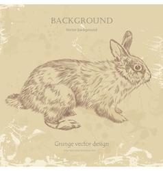 Vintage bunny vector image