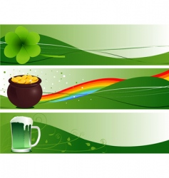 St Patrick's banners vector image