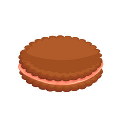 Sweet cookie with stuffing vector